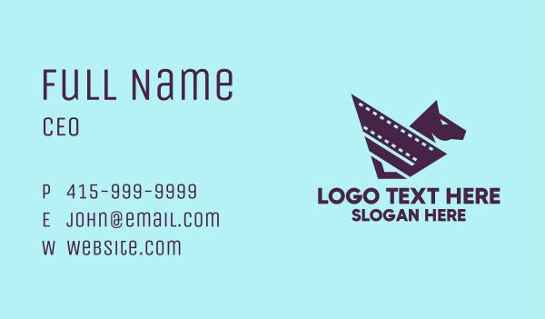 production - Entertainment Horse Film  Business card horizontal design
