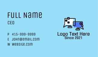 Computer Network Chat  Business Card