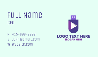 Media Player Flash Drive Business Card