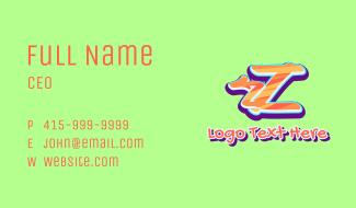 Arrow Graffiti Art Letter Z Business Card