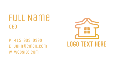 Simple Home Construction  Business Card