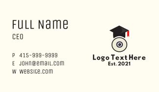 Webcam Graduation Cap Business Card