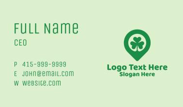 Irish Shamrock Location Pin Business Card
