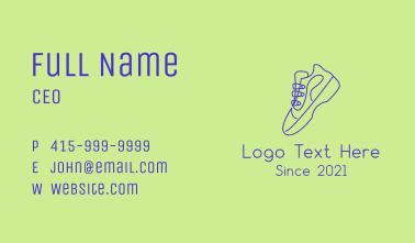 Mid Top Sneaker Monoline Business Card
