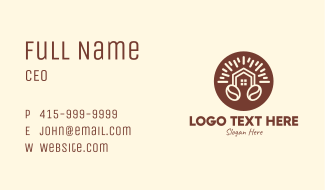 Realty House Coffee Bean Business Card