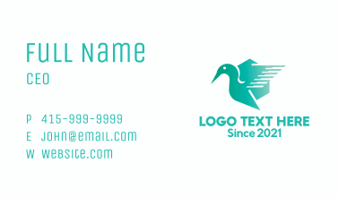 Gradient Geese Emblem Business Card