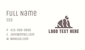 Stone Rock Gorilla Business Card