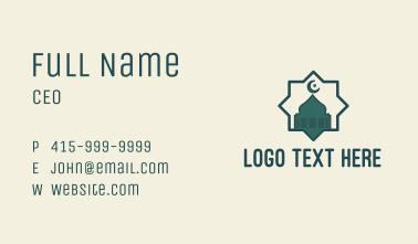 Islamic Mosque Star Badge Business Card