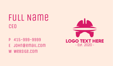 Pink Respiratory System Business Card