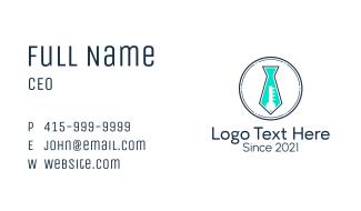 Necktie Laboratory Tube  Business Card