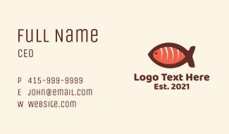 Salmon Sashimi Restaurant Business Card
