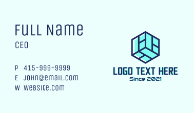 Isometric Cube Business Business Card