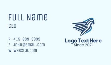 Blue Tropical Cockatoo Business Card
