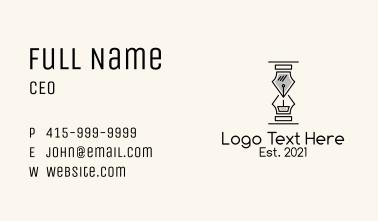Pen Hourglass Clock Business Card