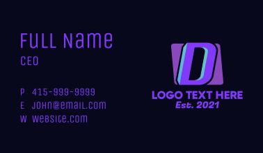 Gradient Business Letter D  Business Card