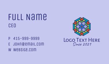 Multicolor Kaleidoscope Tile  Business Card