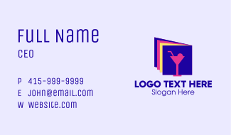 Cocktail Drink Business Card