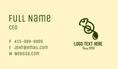 Musical Note Chameleon  Business Card