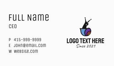 Colorful Snail Mascot  Business Card