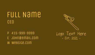 Golden Trumpet Monoline  Business Card