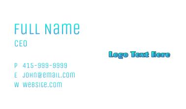 Gradient Blue Wordmark Business Card