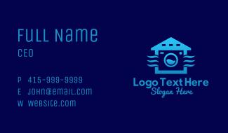 Blue Laundry Shop  Business Card