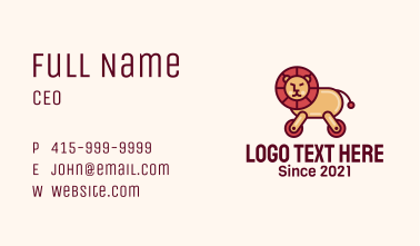 Wheeled Lion Toy Business Card