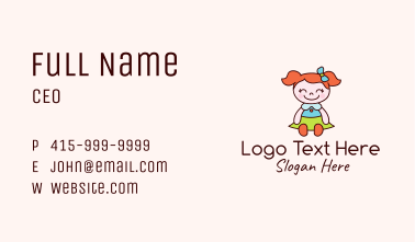 Smiling Girl Doll Business Card