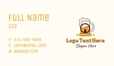 Beer Mug Barrel Business Card