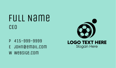 Abstract Soccer Player Business Card