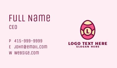 Easter Egg Lettermark  Business Card