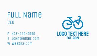 Blue Bike Repair  Business Card