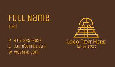 Ethnic Mayan Temple Business Card