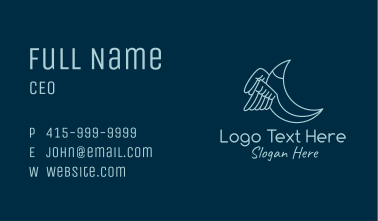 Blue Crescent Wings Business Card