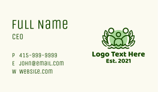 Organic Family People Business Card