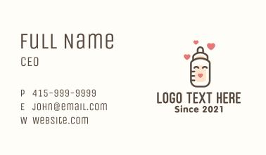 Milk Bottle Baby Care Business Card