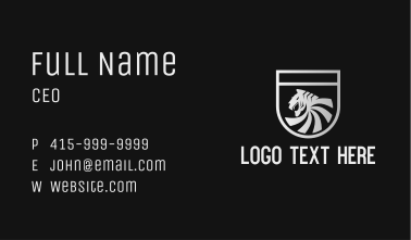 Silver Tiger Shield Business Card