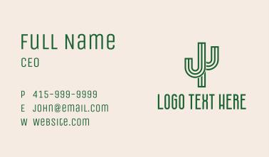 Cactus Letter J  Business Card