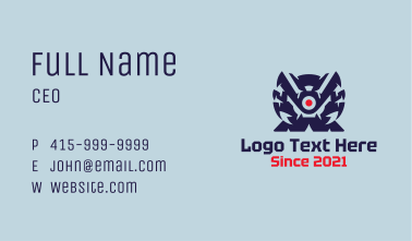 Monster Gaming Console Business Card