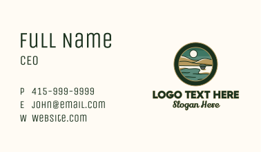Valley Lakeside Badge Business Card