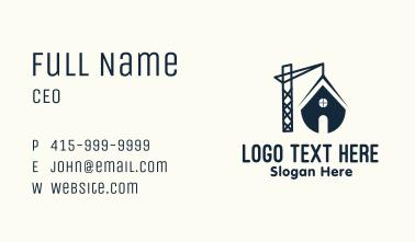 House Demolition Crane Business Card