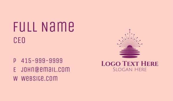 fortune telling - Starburst Astrology  Business card horizontal design