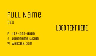 Simple Modern Wordmark Business Card