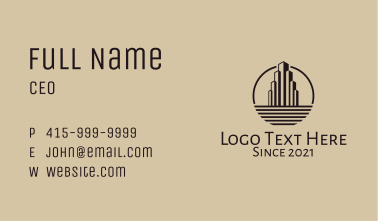 City Tower Real Estate Business Card