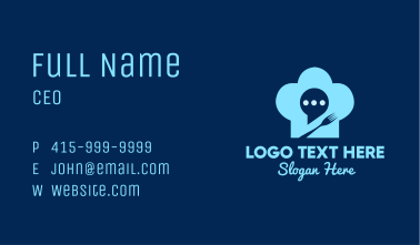 Chat Bubble Toque Business Card