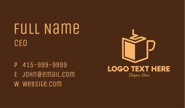Brown Coffee Book Business Card
