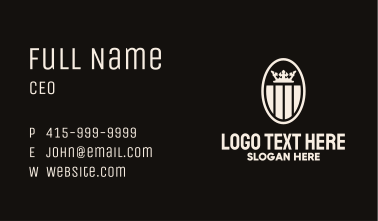 Crown Stripe Crest Business Card