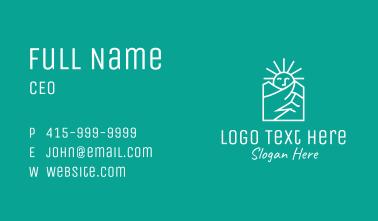 White Sunshine Mountain Business Card