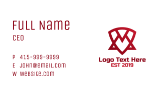 Abstract Shield Triangle Business Card