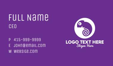 Swirl Chameleon Business Card